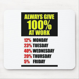 Work 100 % fun mouse pad