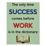 WORK before SUCCESS Poster