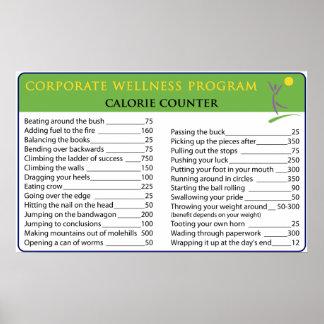 Work Calories Poster