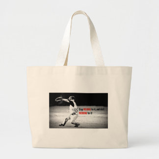 work for it large tote bag