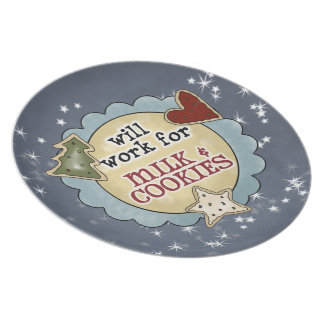 Work for Milk & Cookies Christmas Plate