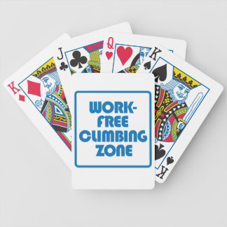 Work Free Climbing Zone Bicycle Playing Cards