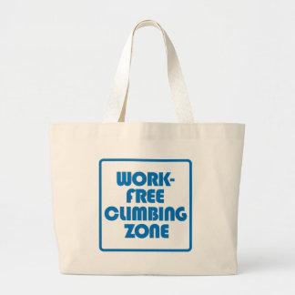 Work Free Climbing Zone Large Tote Bag