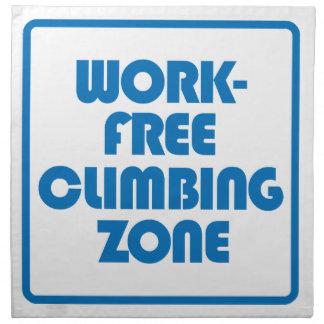 Work Free Climbing Zone Napkin