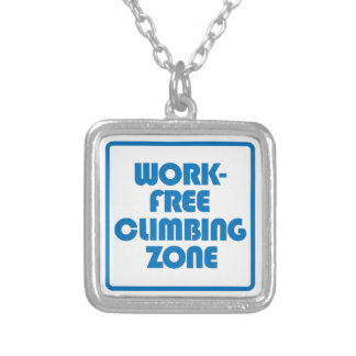 Work Free Climbing Zone Silver Plated Necklace
