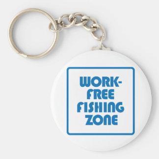 Work Free Fishing Zone Key Ring