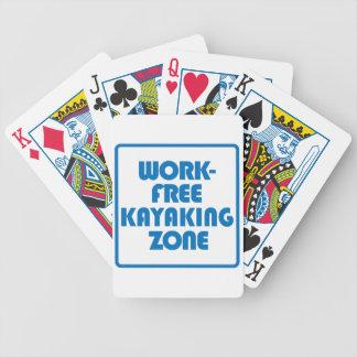 Work Free Kayaking Zone Bicycle Playing Cards
