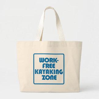 Work Free Kayaking Zone Large Tote Bag