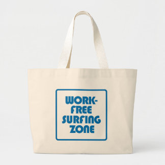 Work Free Surfing Zone Large Tote Bag