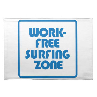 Work Free Surfing Zone Placemat