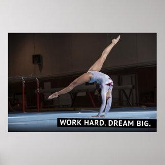 Work Hard, Dream Big - Motivational Poster