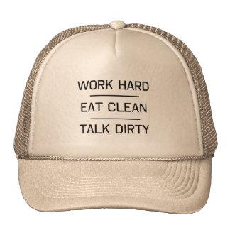 Work Hard, Eat Clean, Talk Dirty Hats