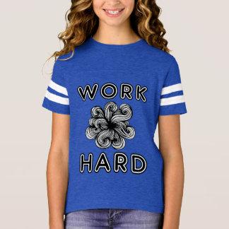 """""""Work Hard"""" Girls' Sports Shirt"""