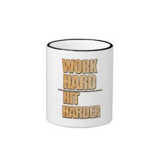 Work Hard, Hit Harder Coffee Mugs