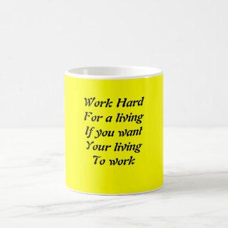 Work hard mugs