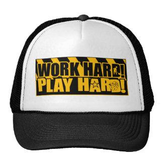 Work Hard! Play Hard! Cap