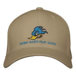 Work Hard/Play Hard Embroidered Baseball Cap