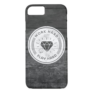Work hard play hard iPhone 7 case