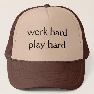 Work hard Play hard Trucker Hat