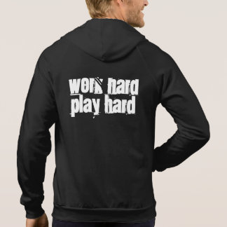 Work Hard Play Hard Zip Up Sleeveless Shirt