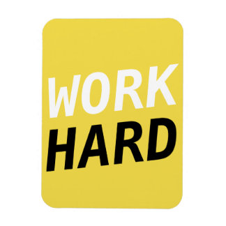 Work Hard Series -  flexi magnet Yellow