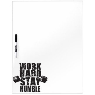 Work Hard, Stay Humble - Workout Motivational Dry Erase Board