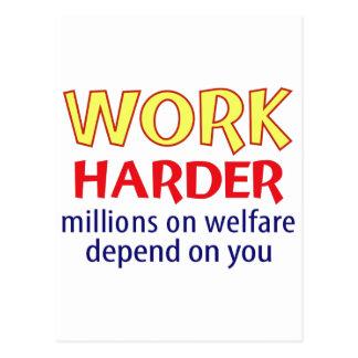 Work Harder Postcard