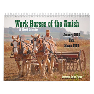 Work Horses of the Amish2 Wall Calendars