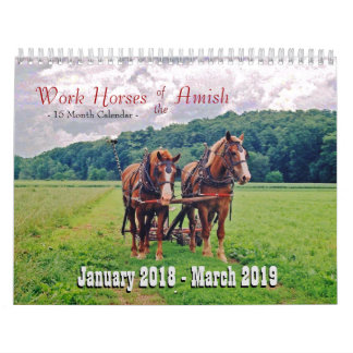 Work Horses of the Amish Calendars