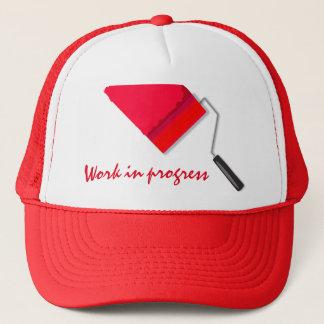 Work In Progress Red Trucker Hat