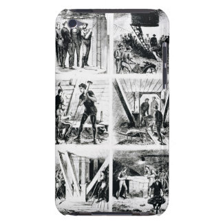 Work inside the caissons, constucting Brooklyn Bri iPod Touch Case