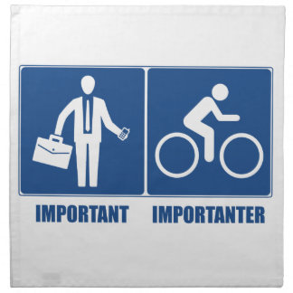 Work Is Important, Cycling Is Importanter Napkin