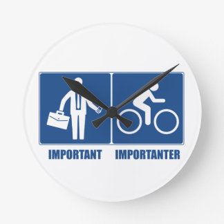 Work Is Important, Cycling Is Importanter Round Clock