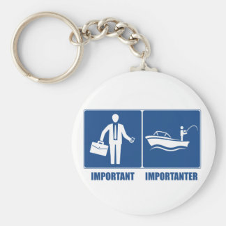 Work Is Important, Fishing Is Importanter Key Ring