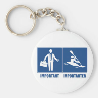Work Is Important, Kayaking Is Importanter Key Ring
