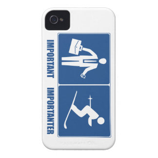 Work Is Important, Skiing Is Importanter iPhone 4 Cases