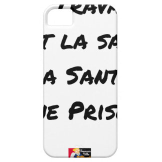 WORK IT IS HEALTH, HEALTH A PRISON BARELY THERE iPhone 5 CASE