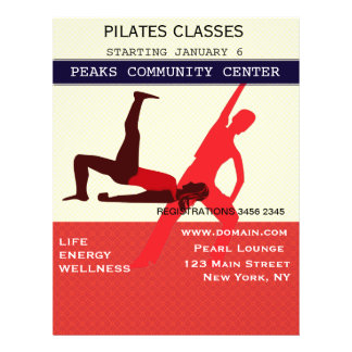 Work It Out! Pilates Yoga Exercise Workout 21.5 Cm X 28 Cm Flyer