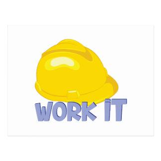 Work It Postcard