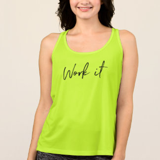 Work It Workout Tank Top