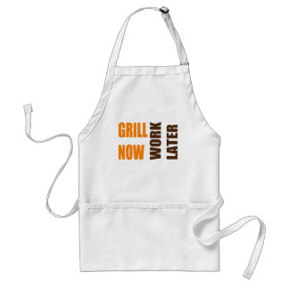 Work Later Father's Day BBQ Apron