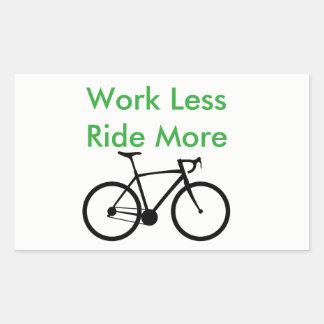 Work Less Ride More sticker