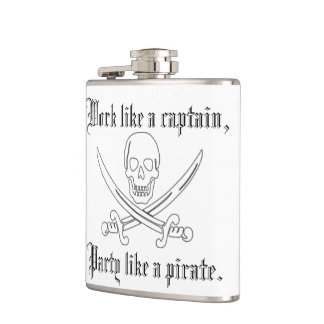 Work Like a Captain, Party Like a Pirate! Flask