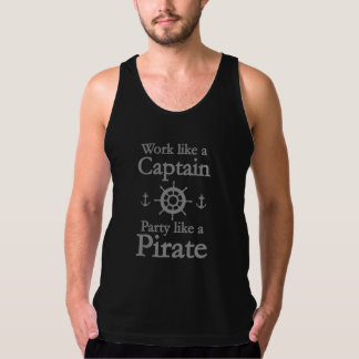 Work Like A Captain Party Like A Pirate Singlet