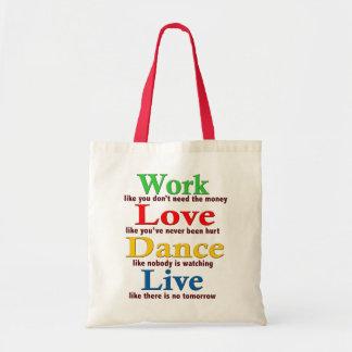 Work, Love Dance, Live Bag