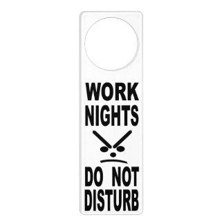 Work Nights Do Not Disturb Door Hanger