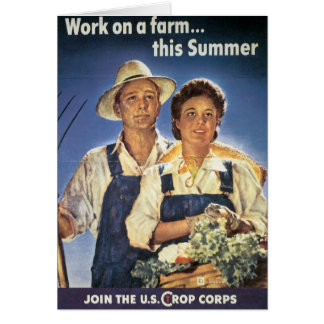Work on a Farm...This Summer Greeting Card