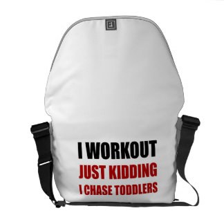 Work Out Just Kidding Chase Toddlers Courier Bag