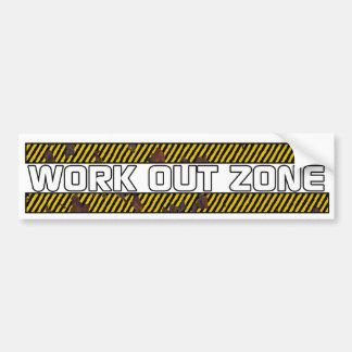Work Out Zone Bumper Sticker