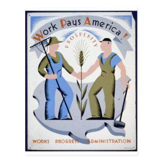 Work Pays America Postcard